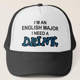 Benötigen Sie ein Getränk - englischen Major Truckerkappe