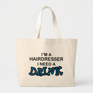 Benötigen Sie ein Getränk - Friseur Leinentasche
