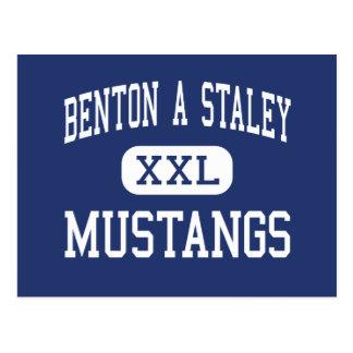 Benton ein Staley Mustangs mittleres Frisco Texas Postkarte