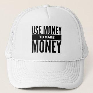 Benutzen Sie Geld, um Geld-Fernlastfahrer-Hut Truckerkappe
