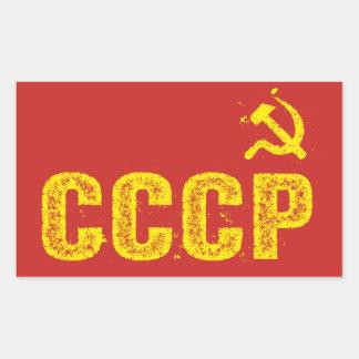 Benutzte CCCP Hammer und Sichel-Aufkleber Rechteckiger Aufkleber