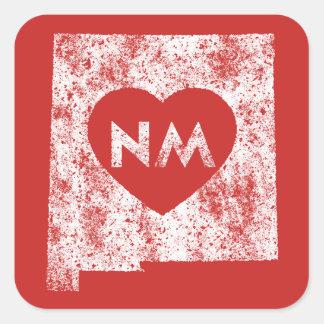 Benutzte i-Liebe-New-Mexiko Quadratischer Aufkleber
