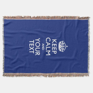 Bequem BEHALTEN Sie RUHE UND Ihren Text für Decke