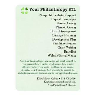 Berater-Broschüre 4 16,5 X 22,2 Cm Einladungskarte
