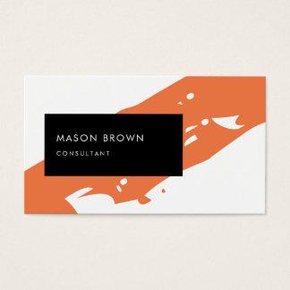 Berater modernes orange Diagonale schwarzes Visitenkarte