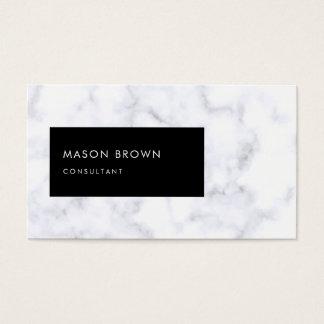 Berater Profi moderner weißer Marmor Visitenkarte