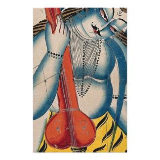 Berauschtes Shiva, das Lamm hält Briefpapier