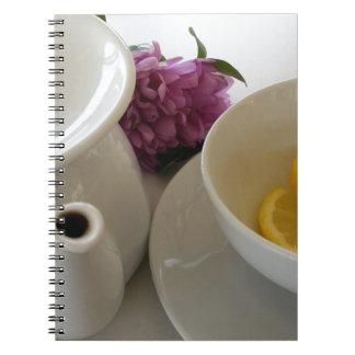 bereiten Sie für Tee vor Spiral Notizblock