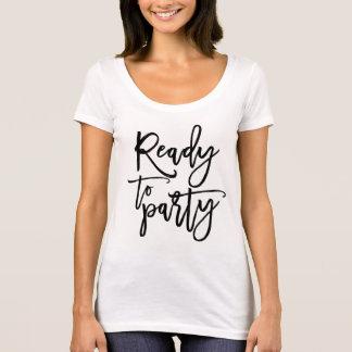 Bereiten Sie zum Party-Abschluss-Skript-T - Shirt