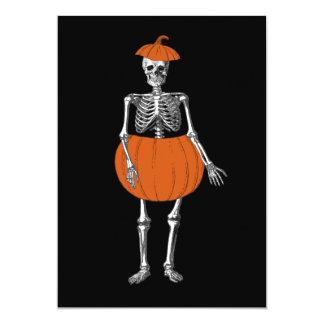 Bereites Skelett Halloweens 12,7 X 17,8 Cm Einladungskarte