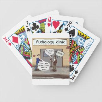 Bereuen Sie für das lustige Audiologe-Büro Bicycle Spielkarten