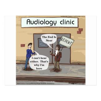 Bereuen Sie für das lustige Audiologe-Büro Postkarte