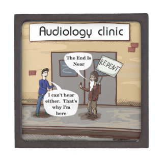 Bereuen Sie für das lustige Audiologe-Büro Schmuckkiste