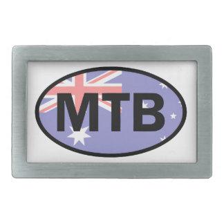 Berg, der Australien-Flagge radfährt Rechteckige Gürtelschnalle
