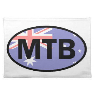 Berg, der Australien-Flagge radfährt Tischset