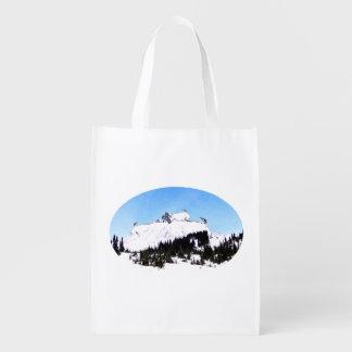 Berg der Ziegen Wiederverwendbare Einkaufstasche