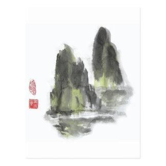 Berg des Giants in der weißen Postkarte