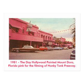 Berg Dora, Florida - gemaltes Rosa Postkarte