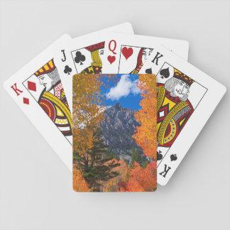 Berg gerahmt im Falllaub, CA Spielkarten