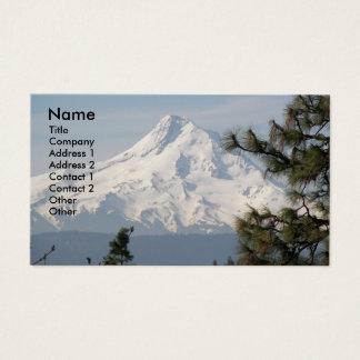 Berg-Hauben-Gipfel-Foto Visitenkarte