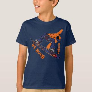 Berg-Hauben-Oregon orange Snowboard-Jungent-stück T-Shirt