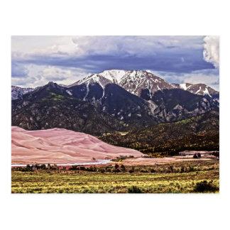 Berg Herard und große Sanddünen Postkarte