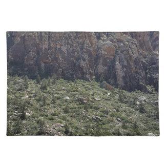 Berg im roten Felsen Nanovolt Stofftischset