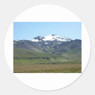Berg in Island Runder Aufkleber