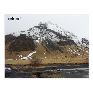 Berg in Skógar, Island Postkarte
