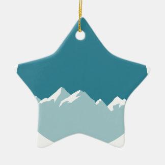 Berg Keramik Ornament