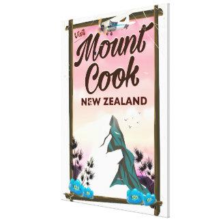 Berg-Koch-Neuseeland-Reiseplakat Leinwanddruck
