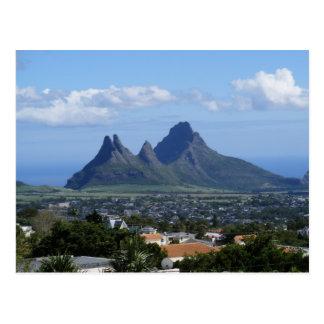 Berg Mauritius Postkarte