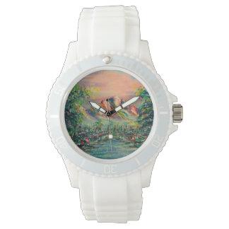 Berg mit See Armbanduhr