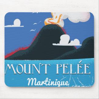 Berg Pelée, Vintages Reiseplakat Martiniques Mousepad