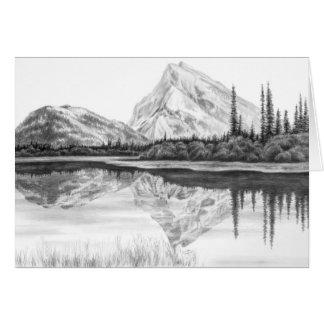Berg-See Landschaft, die durch Kelli Schwan zeichn Karten