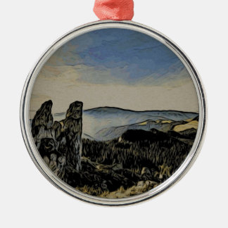 Berg Silbernes Ornament