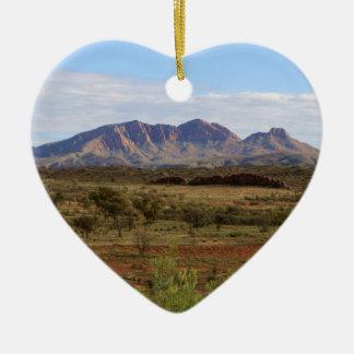 Berg Sonder, zentrales australisches Hinterland Keramik Herz-Ornament