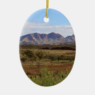 Berg Sonder, zentrales australisches Hinterland Ovales Keramik Ornament
