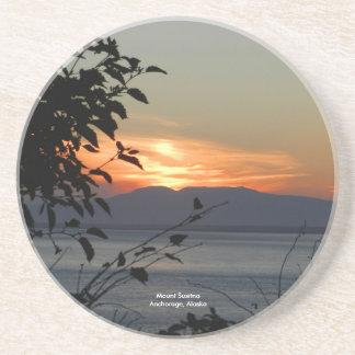 Berg Susitna Alaska/ Sandstein Untersetzer