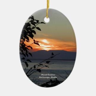 Berg Susitna Alaska Verzierungen Ovales Keramik Ornament