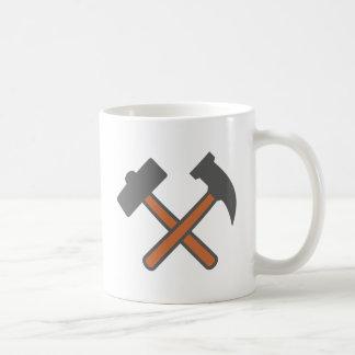 Bergbau Hämmer mining hammers Kaffeetasse