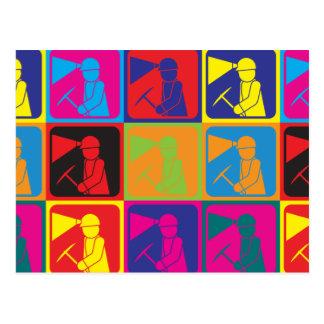 Bergbau-Pop-Kunst Postkarte