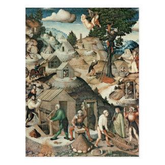 Bergbaulandschaft, 1521 postkarte