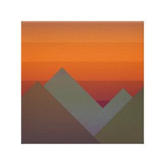 Berge am Sonnenuntergang Leinwanddruck