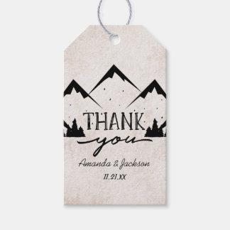 Berge, die Abenteuer Wedding anfängt, danken Ihnen Geschenkanhänger
