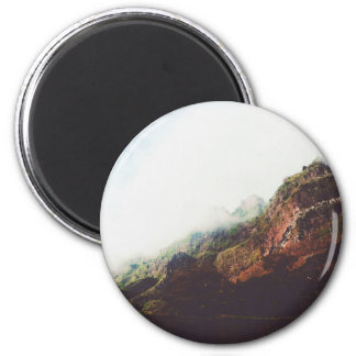 Berge, entspannende Natur-Landschaftsszene Runder Magnet 5,1 Cm