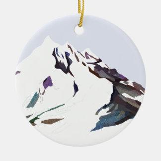 Berge im kalten Entwurf Keramik Ornament