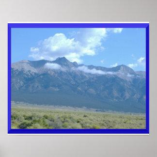 Berge im Wolken-Plakat Poster