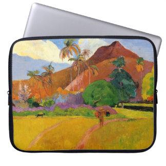 """Berge in Tahiti"" - Paul Gauguin Laptopschutzhülle"