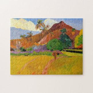 """""""Berge in Tahiti"""" - Paul Gauguin Puzzle"""
